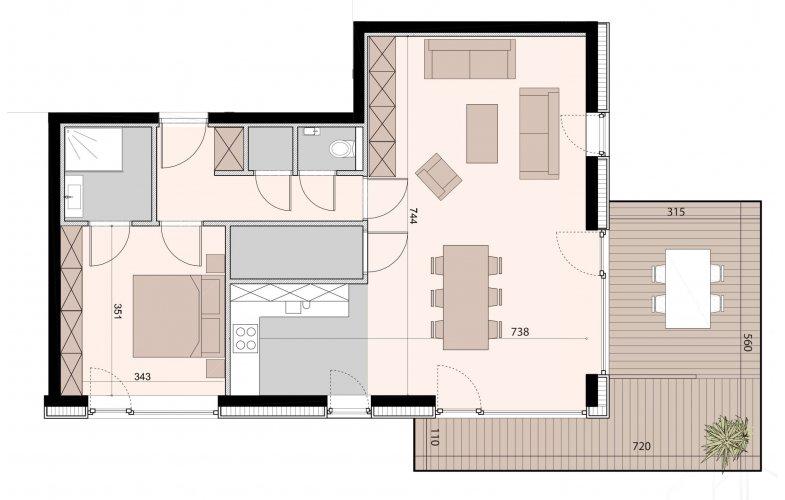 Appartement 1 slaapkamer | Van Roey Vastgoed